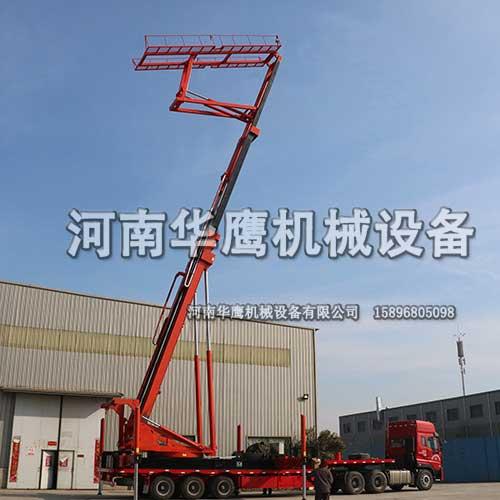 河北沧州客户提货28米高空压瓦设备