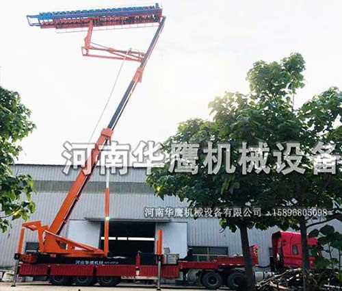 河南郑州客户试机18.5米高空制瓦车