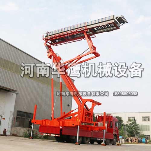 福建客户定制一台28米高空制瓦机