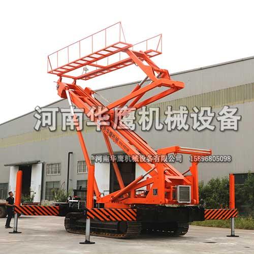 湖南客户定制履带式23米高空压瓦机