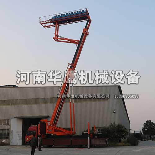 新乡客户购买一台高空举升压瓦机