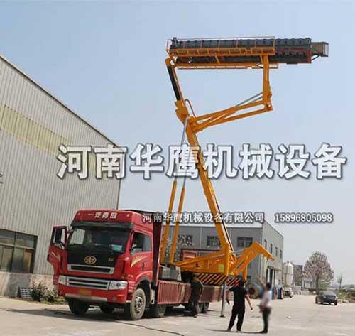 天津客户定制一台23米高空上瓦机